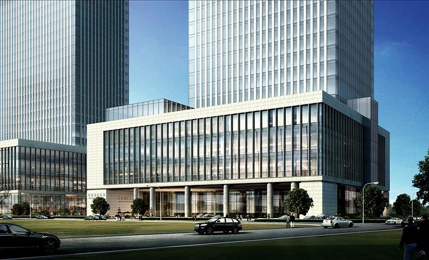 是集酒店式公寓,写字办公,会所,商业,车库为一体的综合建筑.