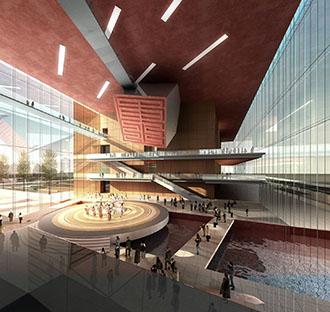 即墨市博物馆档案馆科技馆图书大厦综合楼