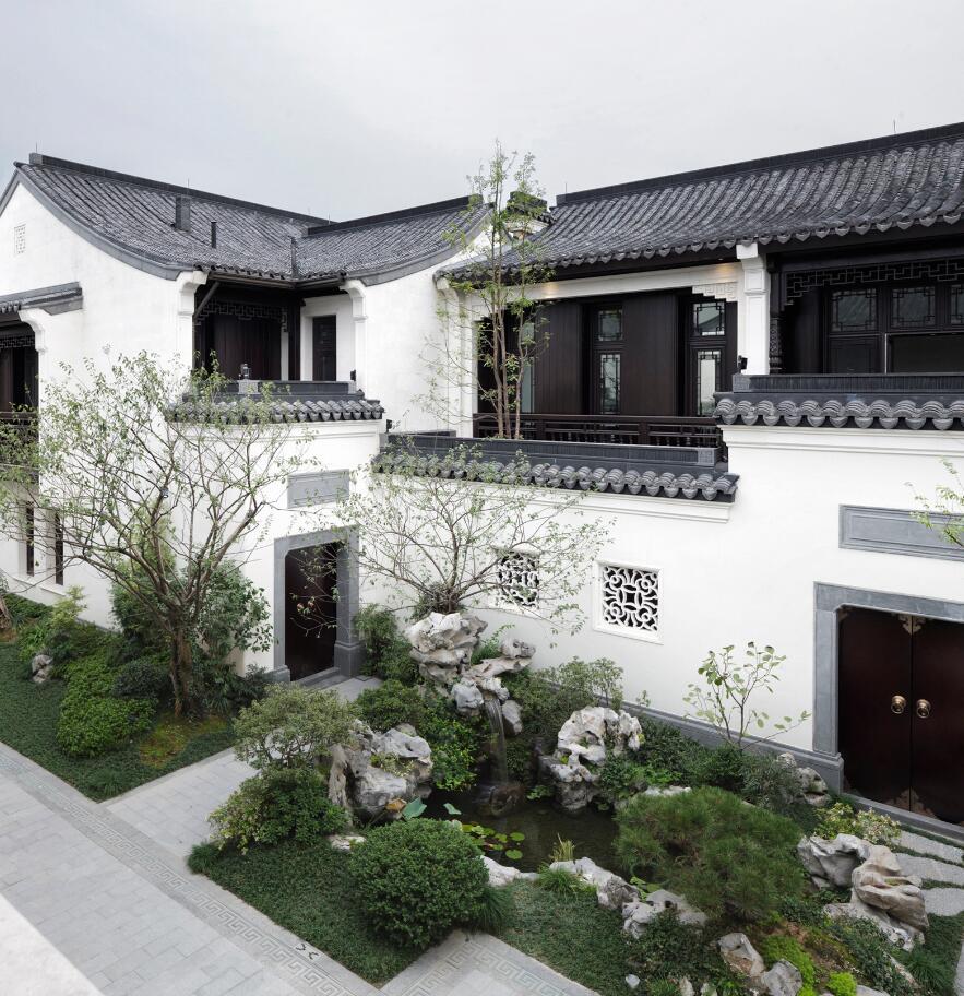 欧式风格三层商业办公楼(其中九芝斋是杭州