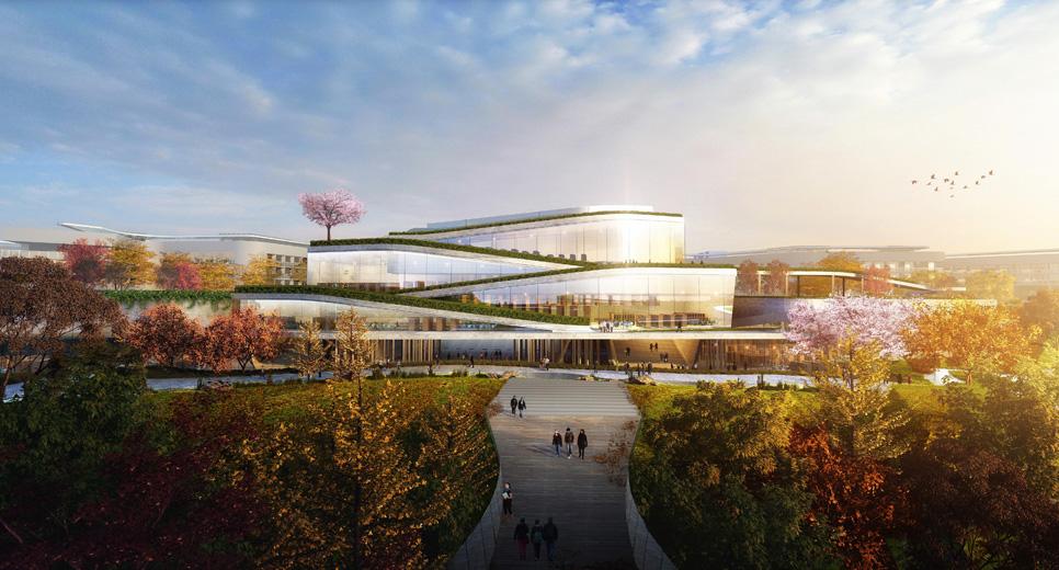 重庆大学城南开中学学校工程方案设计图片