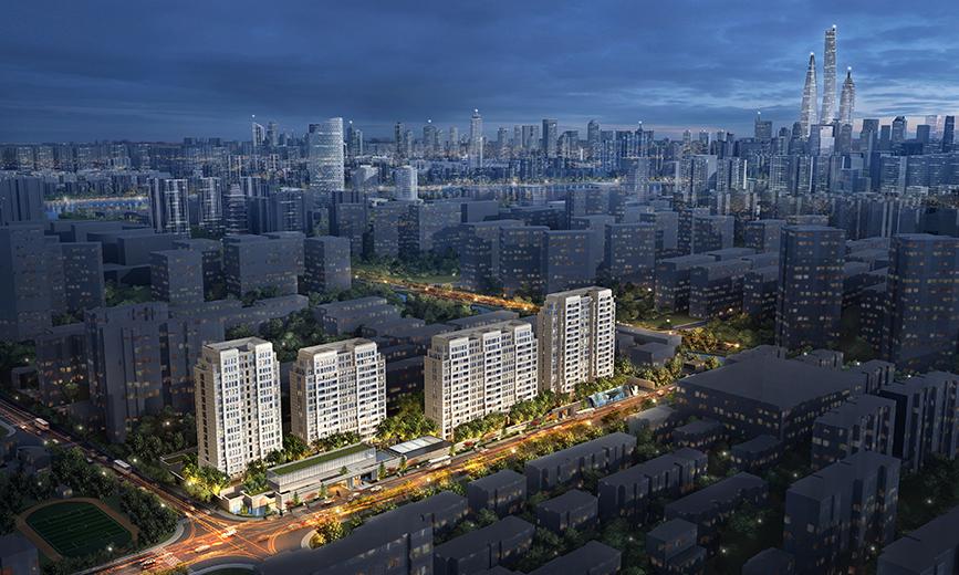 项目用地位于炙手可热的上海内环内滨江沿线,同时东侧有径流穿越,临近有渔人码头大型综合体,是为黄浦江沿岸少有的住宅用地。 项目用地较不规则,并且需要借杨浦区难得的的底层建筑区域获取上海陆家嘴核心景观群。gad上海公司团队经过精心布局,不仅在上海现有主城区复杂的城市轮廓线环境中取得良好景观朝向,解决了复杂的日照体系问题,还设计出了建筑群落间良好的城市空间关系。以简洁大气的建筑形式打造出上海黄浦江沿线新的高端住区气质。将为上海黄浦江北岸天际线添上浓墨重彩的一笔。